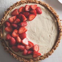 Mascarpone Pretzel Strawberry Tart