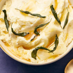 Mashed Potatoes with Fried Sage