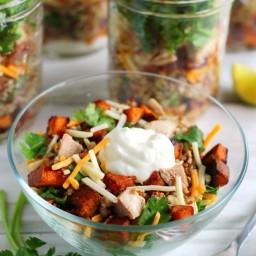Mason Jar Burrito Bowl Salad