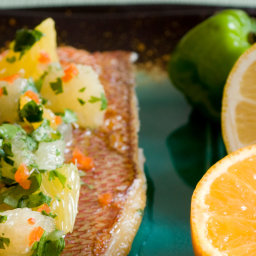 Maya Citrus Salsa (Xec) With Red Snapper