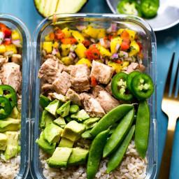 Meal Prep Jerk Chicken Bowls (Video!)