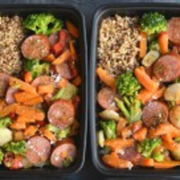 Meal Prep Sausage and Veggies for Any Meal {GF, Low Cal}