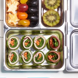 Meat and Cheese Cucumber Roll-Ups Bento Box Lunch
