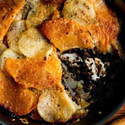 Meat and Potato Skillet Gratin