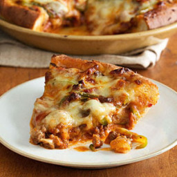 Meat Lovers Deep Dish Pizza