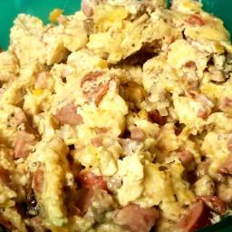 Meat Lovers Scrambled Eggs