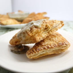 Meat Pastries with Creamy Mushroom Sauce