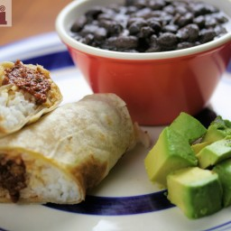 Meatball burrito (Burrito de Albondigas)