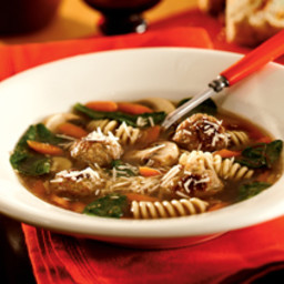 Meatball-Mushroom-Parmesan Soup