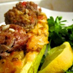 Meatball Sandwich with Zucchini Bread & Coconut Curry Sauce