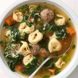Meatball-Tortellini Soup