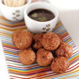 Meatballs with Spicy Lime Dipping Sauce