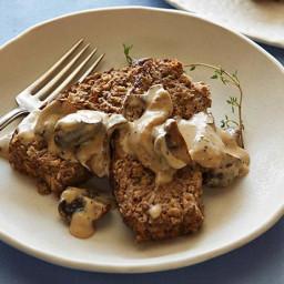 Meatless Meatloaf with Mushroom Gravy