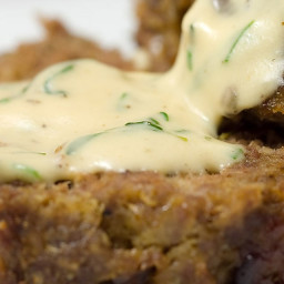 Meatloaf with Herbed Cream Sauce