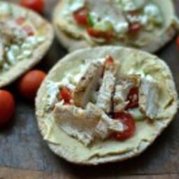 Mediterranean Chicken Pita Pizzas