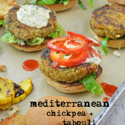 Mediterranean Chickpea and Tabouli Sliders
