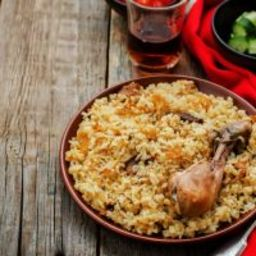 Mediterranean Crockpot Wild Rice and Chicken