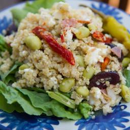 Mediterranean Edamame Quinoa Salad