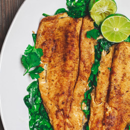 Mediterranean Pan Seared Trout Recipe with Tzatziki