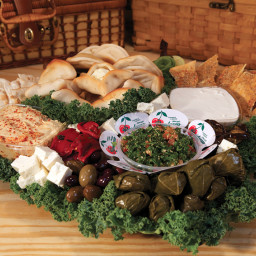 Mediterranean Platter with Grape Leaves and Roasted Veggies