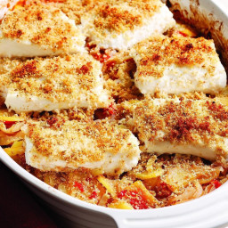 Mediterranean Roasted Fish and Vegetables
