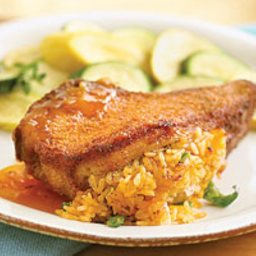 Mediterranean Stuffed Pork Chops