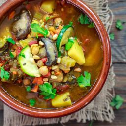 Mediterranean-Style Homemade Vegetable Soup