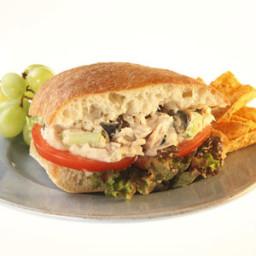 Mediterranean Tuna Salad Sandwich Meal