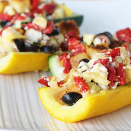 Mediterranean Zucchini Boats with California Ripe Olives