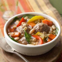 Mediterranean Meatball Soup
