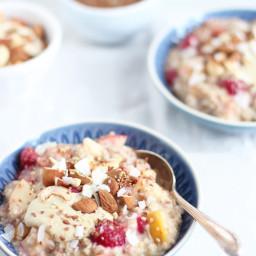 Mein 5-Minuten-Porridge (vegan and zuckerfrei)