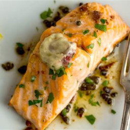Melissa Clarks Salmon With Anchovy-Garlic Butter