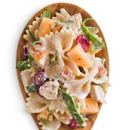Melon and Chicken Pasta Salad