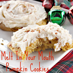 Melt In Your Mouth Pumpkin Cookies