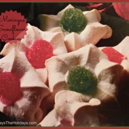 Meringue Snow Flower Christmas Cookies