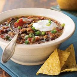 Mexican Black Bean Sausage Chili