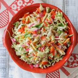 Mexican Cabbage Slaw With Cumin Lime Dressing