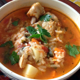 Mexican Caldo de Pollo Or Chicken Soup Mexican Style