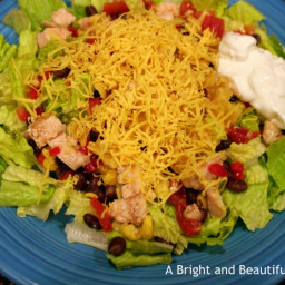 Mexican Chicken Salad with Taco-Ranch Dressing