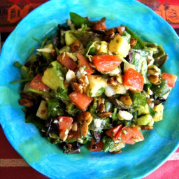 Mexican Chopped Salad Recipe with Spiced Pepitas and Honey-Chipotle Lime Dr