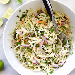 Mexican Coleslaw With Cilantro Lime Dressing