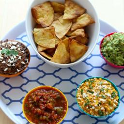 Mexican Dips 3 Ways + Homemade Tortilla Chips