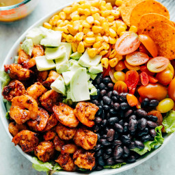 Mexican Prawn Avocado Taco Salad