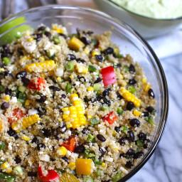 Mexican Quinoa Salad with Fresh Corn