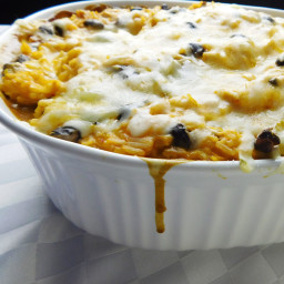 Mexican Rice and Black Bean Casserole (With Chicken)