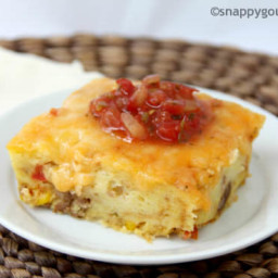 Mexican Sausage and Cornbread Strata