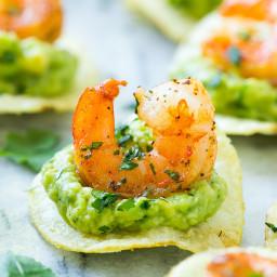 Mexican Shrimp Bites on Lay's Potato Chips