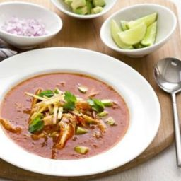 Mexican soup with chicken
