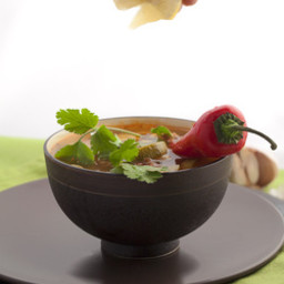 Mexican Spicy Zucchini Soup with Red Rice