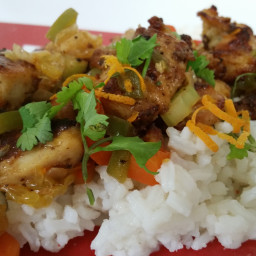 Mexican Style Sweet and Sour Chicken & Veggie Stir Fry